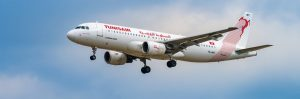 tunisair panorama 300x99 - AIRPORT FRANKFURT,GERMANY: JUNE 23, 2017: Airbus A320 Tunisair is the flag carrier airline of Tunisi
